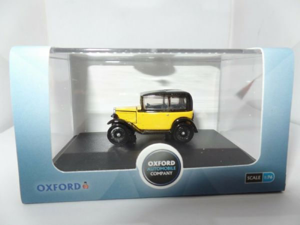 Oxford 76ASS007 ASS007 1/76 OO Scale Austin 7 Seven RN Saloon Yellow / Black